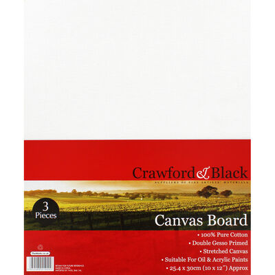 3 Flat Canvas Boards - 10 x 12 Inch image number 1