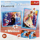 Disney Frozen 2 2-in-1 Jigsaw Puzzle Set image number 3