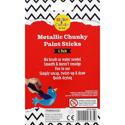 Metallic Poster Paint Sticks - 6 Pack image number 4