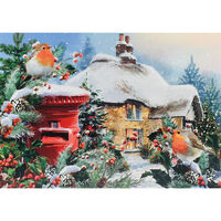 Cancer Research UK Charity Robin Christmas Cards: Pack of 10
