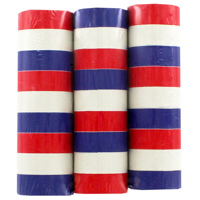 Red, White and Blue 4m Paper Streamers image number 1