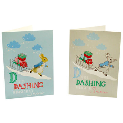 8 Christmas Cards in Tin - Peter Rabbit image number 3