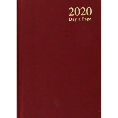 A6 2020 Red Day a Page Diary image number 1