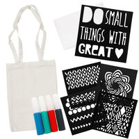 Decorate Your Own Tote Bag Kit