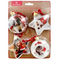 Personalised Photo Baubles: Pack of 4