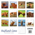 Highland Cows 2020 Square Calendar image number 2
