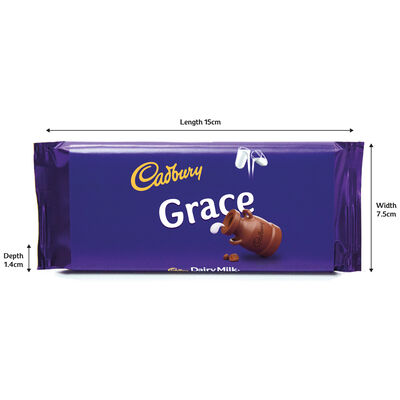 Cadbury Dairy Milk Chocolate Bar 110g - Grace image number 3