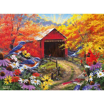 500 Piece Jigsaw Puzzle Garden with Red Bridge