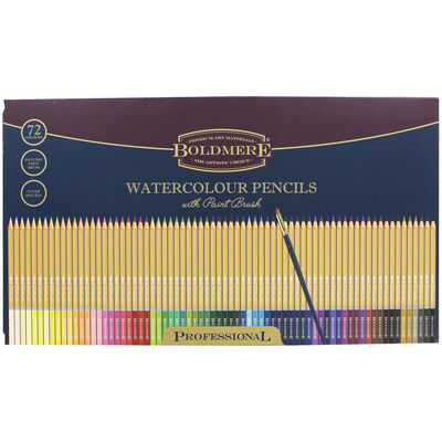 Watercolour Pencils Set - Tin Of 72 image number 1