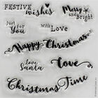 At Home with Santa Sentiments Clear Stamp Set image number 2