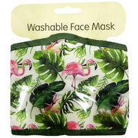 Forest Flamingo Face Mask