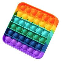 Pop 'N' Flip Bubble Popping Fidget Game: Rainbow Square