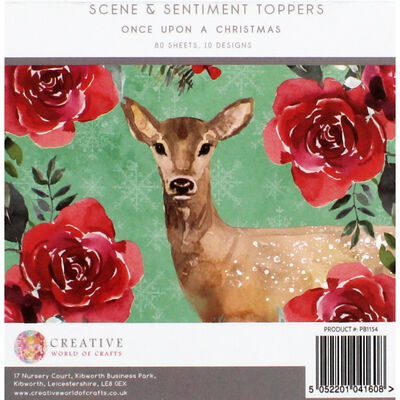 Once Upon a Christmas Scene and Sentiment Toppers Pad - 5x5 Inch image number 4