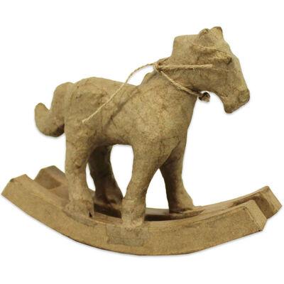 Decopatch Papier Mache Rocking Horse Figure image number 1