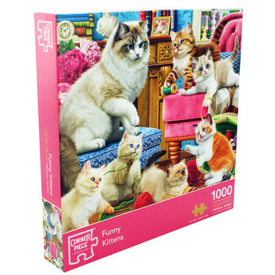 Funny Kittens 1000 Piece Jigsaw Puzzle image number 1
