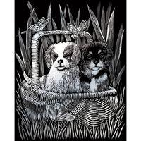 A4 Engraving Art Set: Spaniels