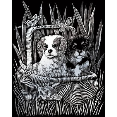 A4 Engraving Art Set: Spaniels image number 2
