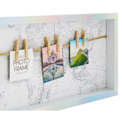 Travel Theme Photo Frame with Pegs image number 3