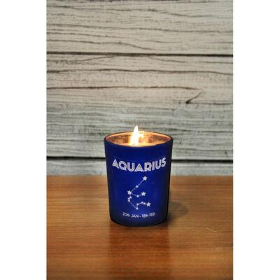 Zodiac Collection Aquarius Fresh Vanilla Candle image number 4