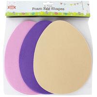 Easter Egg Foam Shapes: Pack of 8