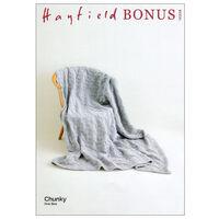 Hayfield Bonus Chunky: Reversible Diamond Blanket Knitting Pattern 10226