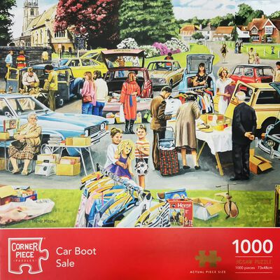 Car Boot Sale 1000 Piece Jigsaw Puzzle image number 1