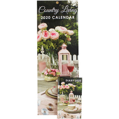 Country Living Slim 2020 Calendar and Diary Set image number 1