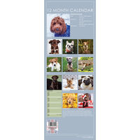 Cute Dogs 2021 Slim Calendar and Diary Set