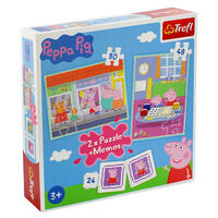 Peppa Pig 2-in-1 Jigsaw Puzzle Set