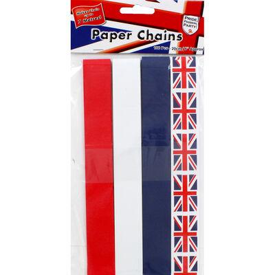 Union Jack Paper Chains - 100 Pieces image number 3