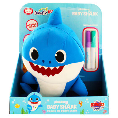 Doodle Me Blue Daddy Shark Plush image number 2
