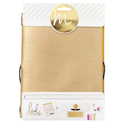 American Crafts: Heidi Swapp Minc Collection: Gold Journal Cover image number 1