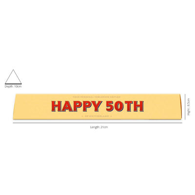 Toblerone Milk Chocolate 100g – Happy 50th image number 2
