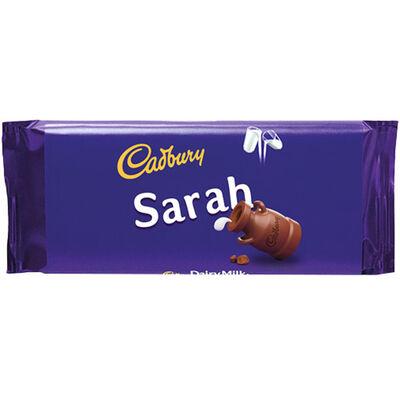 Cadbury Dairy Milk Chocolate Bar 110g - Sarah image number 1