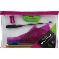Helix Oxford Limited Edition Filled Pencil Case - Pink