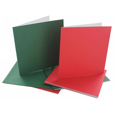 6 Create Your Own Green and Red Greeting Cards - 5x5Inches image number 2