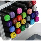 Twin Ended Brights Pastels Colour Markers: Pack of 24 image number 2