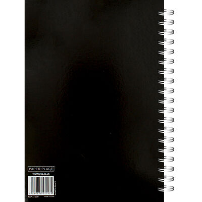 A4 Wiro Plain Black Lined Notebook image number 3