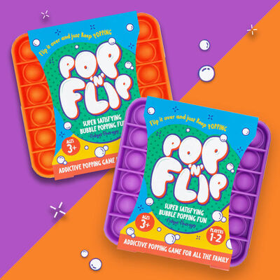 Pop 'N' Flip Bubble Popping Fidget Game: Assorted Plain Square image number 5