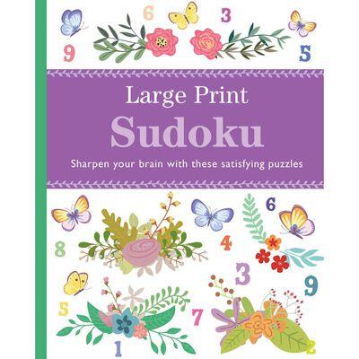 Large Print Floral Sudoku image number 1