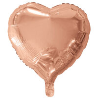 18 Inch Rose Gold Heart Helium Balloon
