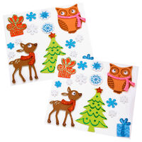 EVA Foam Christmas Stickers: Pack of 2