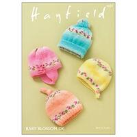 Hayfield Baby Blossom DK: Hats, Helmet, Bonnet Knitting Pattern 5339