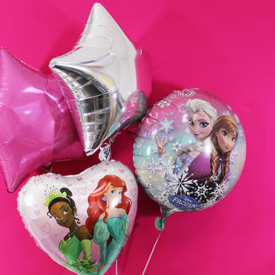 18 Inch Disney Princess Heart Helium Balloon image number 3