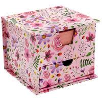 Pink Floral Memo Cube