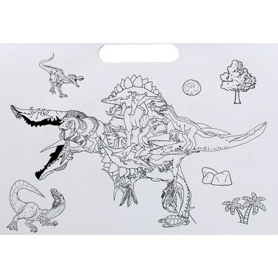 Dinosaurs Doodle Colouring Book image number 3