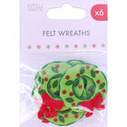 Felt Wreaths - 6 Pack image number 1