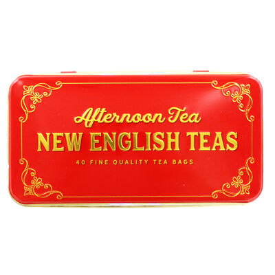 Seasons Greetings Gift Shop English Afternoon Tea Tin - 40 Teabags image number 2