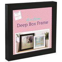 Black Deep Box Frame - 15cm x 15cm