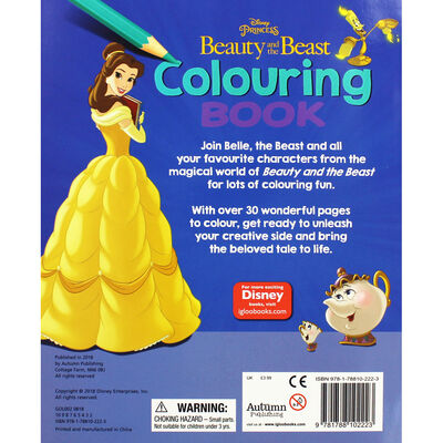 Disney Princess Beauty and the Beast Colouring Book image number 3